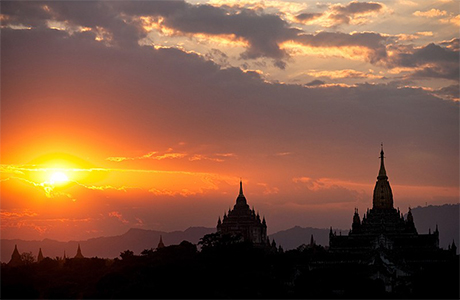 Bagan at Sunset, Burma