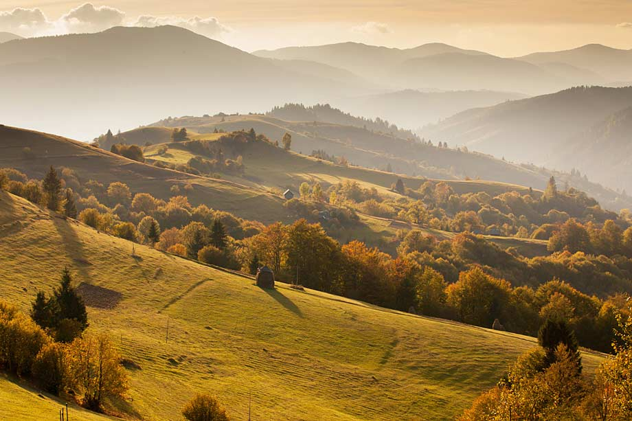 Mist over the Mountains, the Carpathians in Romania