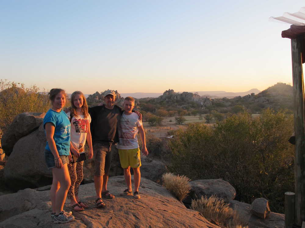 Family holiday in Nambia
