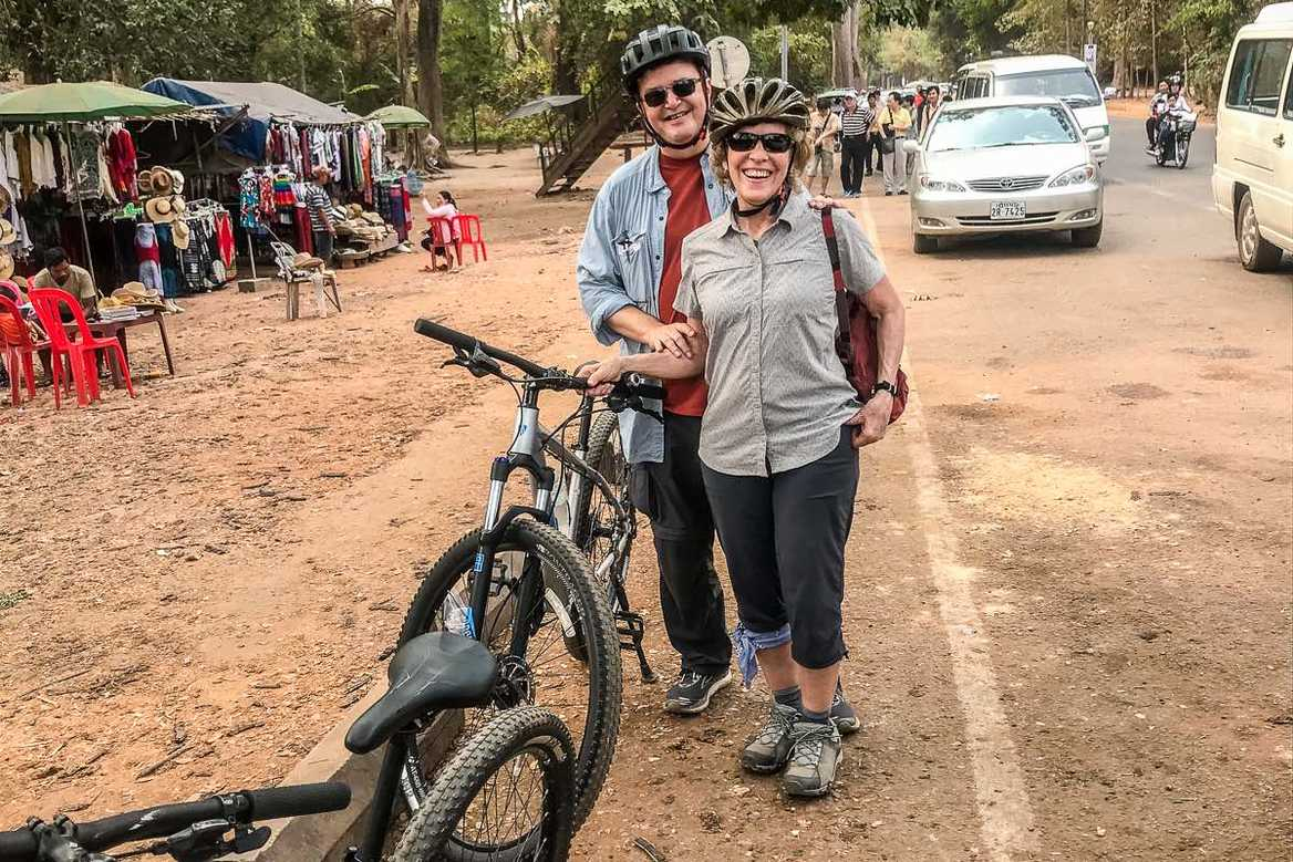 Cycling in Angkor Thom
