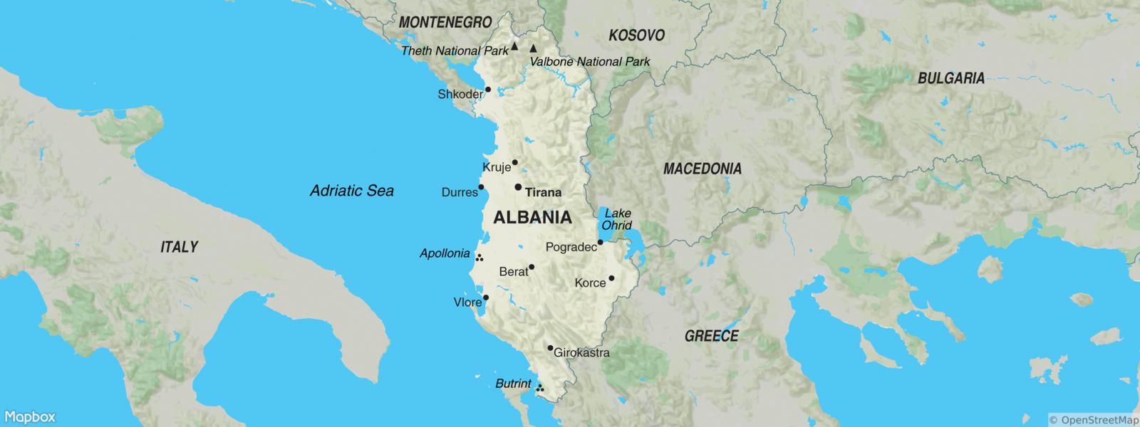 Albania Map