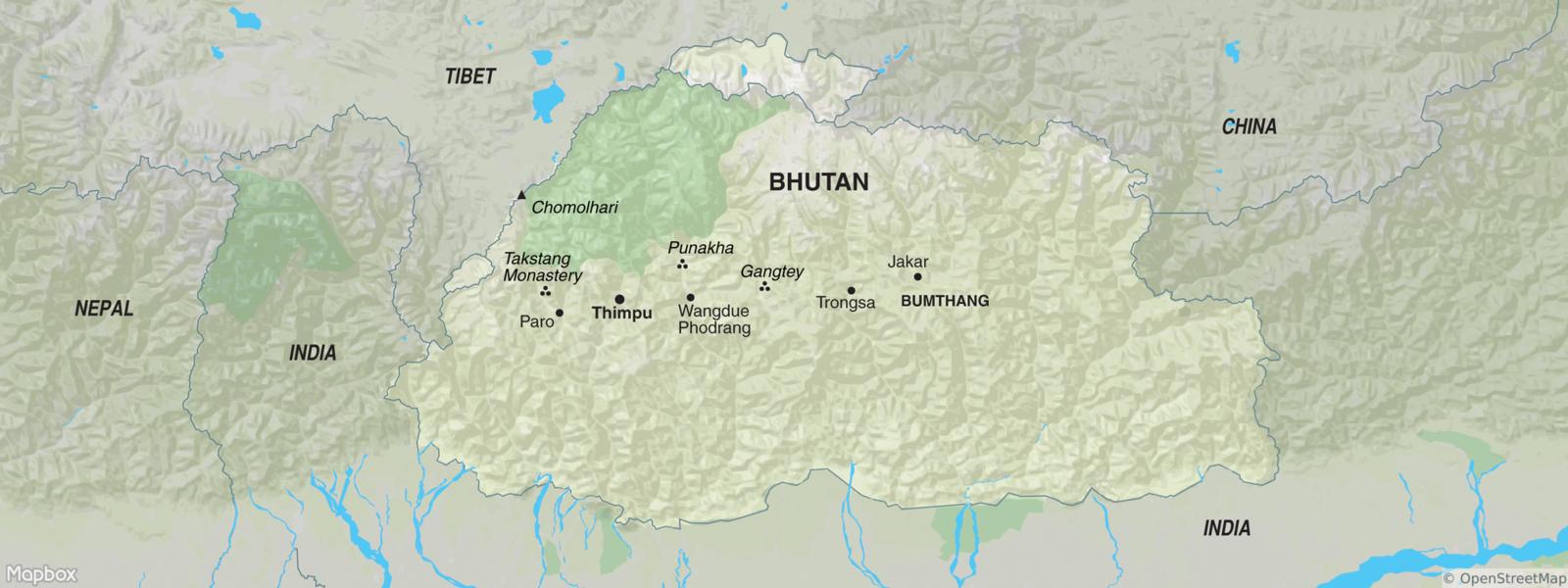 Bhutan map