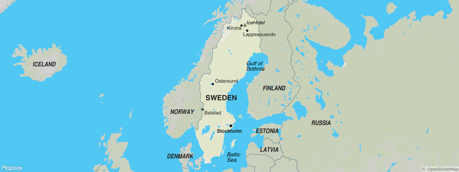 Sweden map