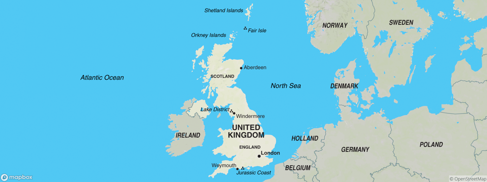 United Kingdom of Great Britain map