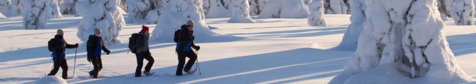 snowshoeing in Finland