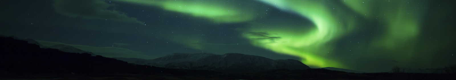 blazing display in Iceland