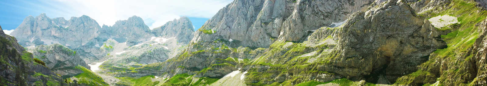 Stunning rugged scenery in the Albanian Alps