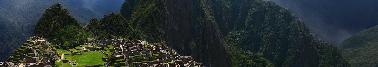 Dramatic sky over Machu Picchu