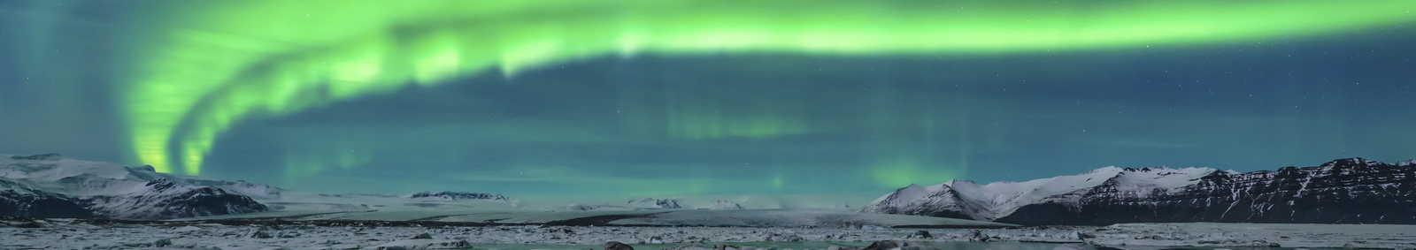 Aurora over Jokulsarlon, Sweden