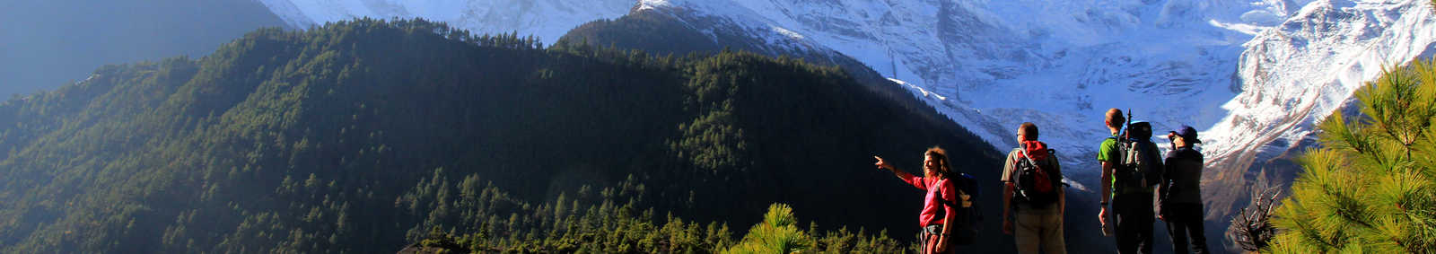 The way up towards Chulu, Himalaya, Nepal