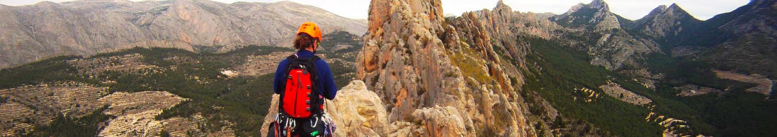 Bernia Ridge - Roped-up ridge scramble