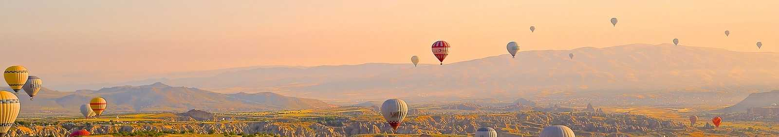 Hot air balloon ride over Cappadocia, Turkey