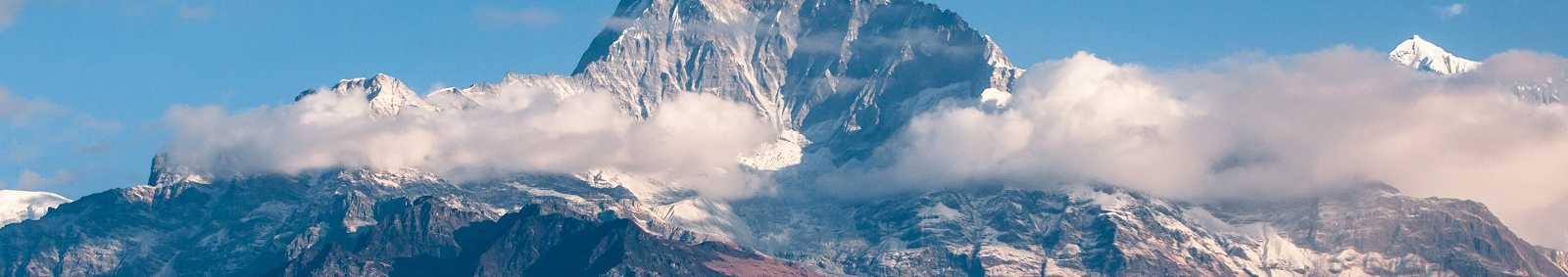 Machapuchare Mountain Peak in Nepal