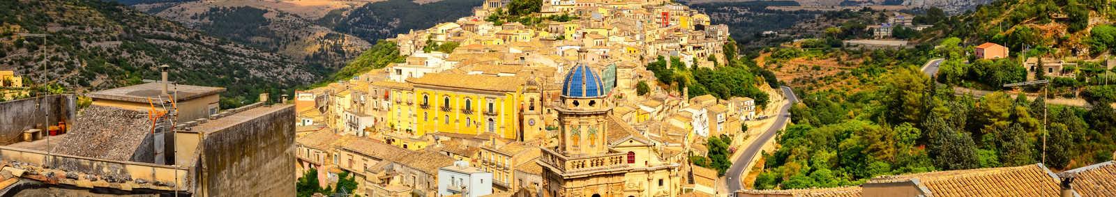 Beautiful village of Ragusa, Sicily, italy