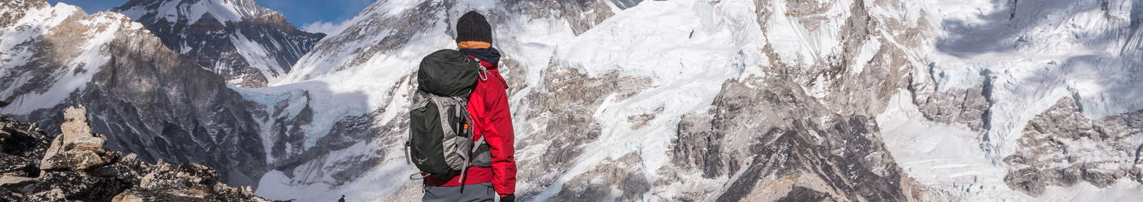 traveller looking at Mount Everest