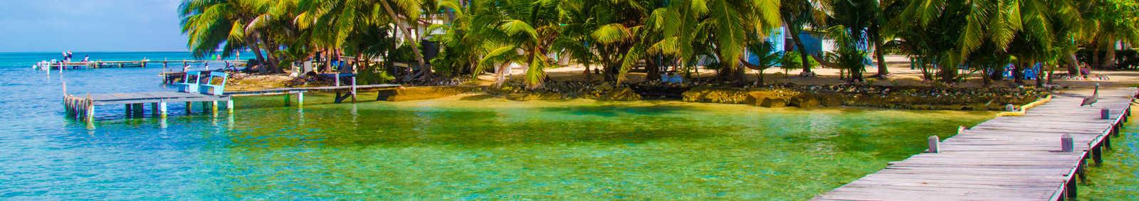 Jetty Pier of an beautiful Island, Caribbean