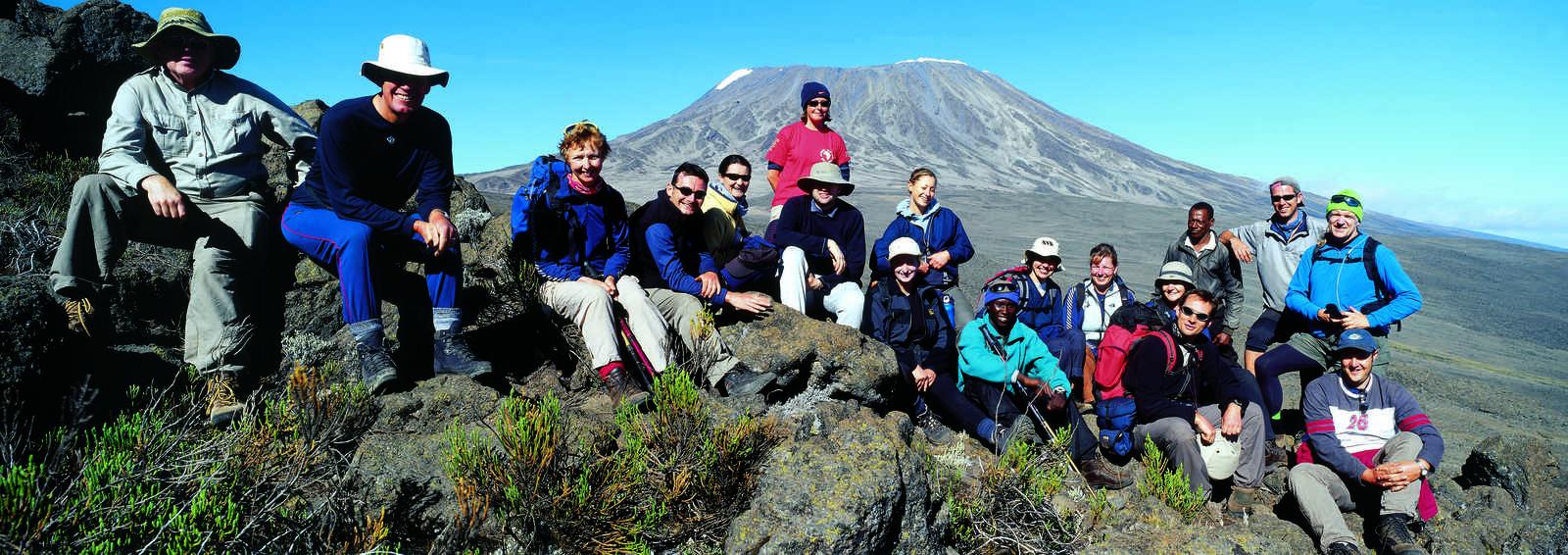 Group near the Saddle on Kilimanjaro, Tanzania