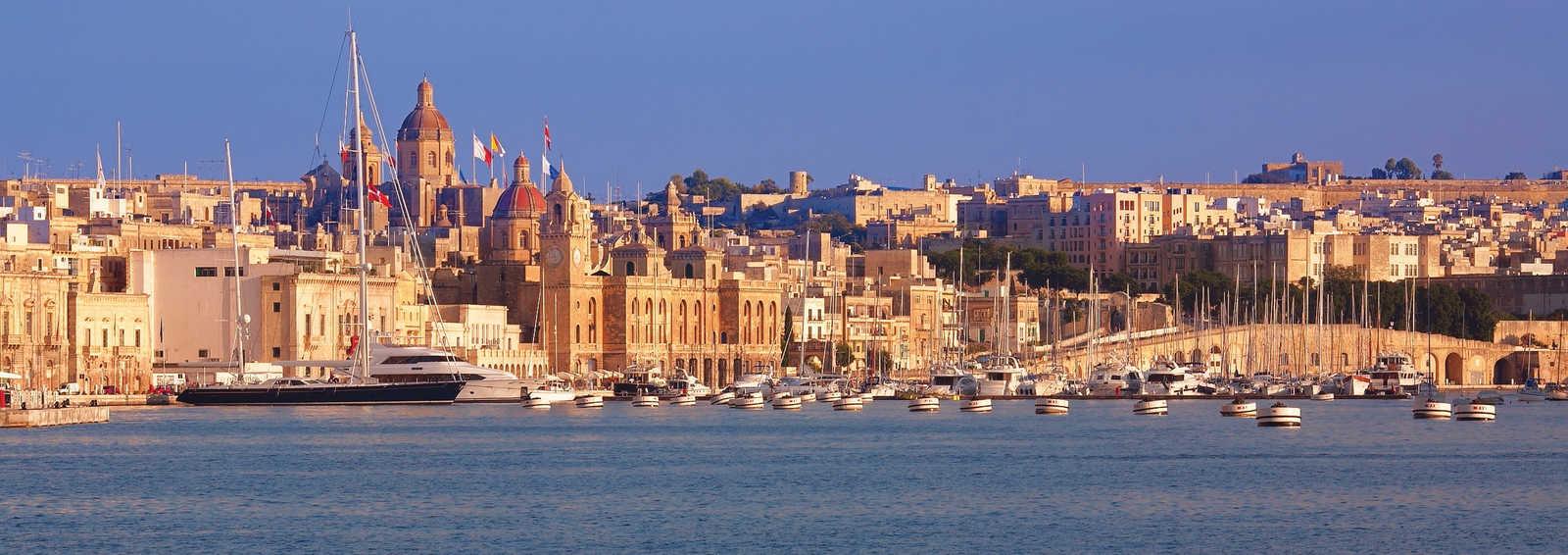 Cityscape from a boat, Malta