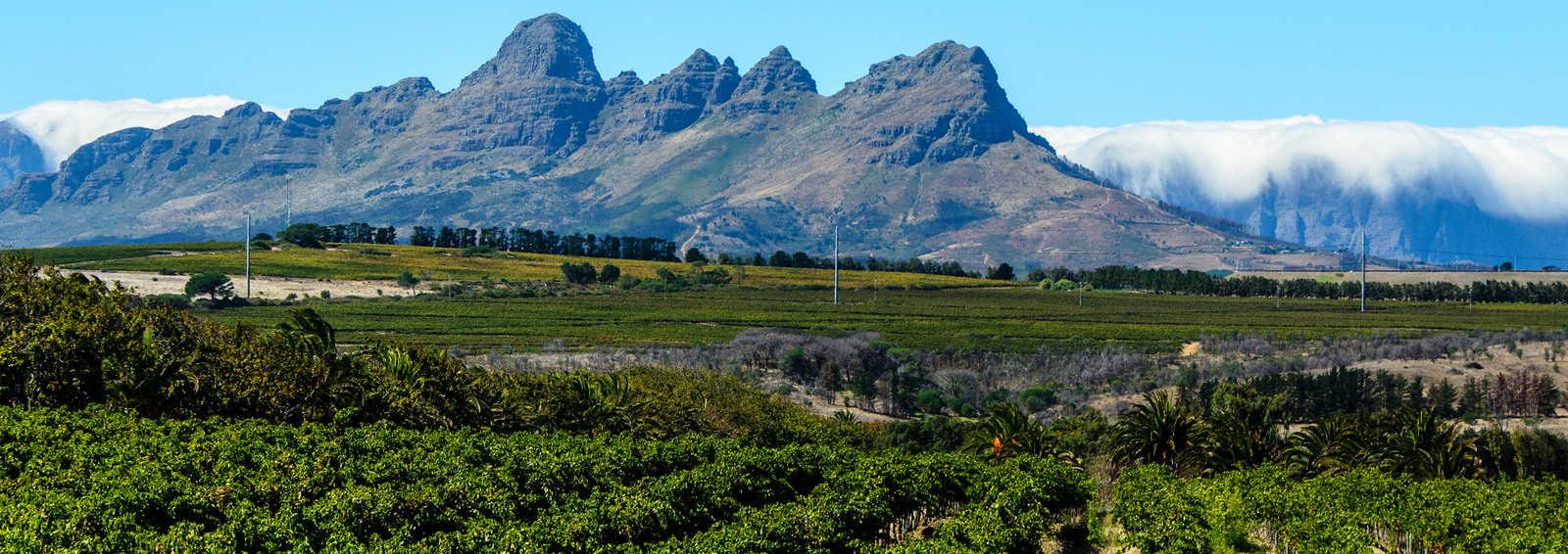 Clouds over Stellenbosch Mountains