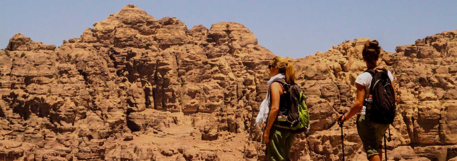 Group taking a breather in Wadi Rum, Jordan