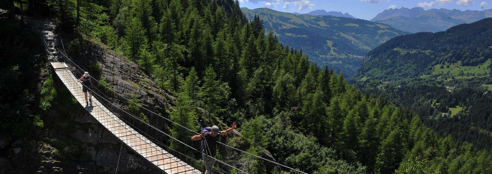 Bridge on the Mont Blanc Circuit, France