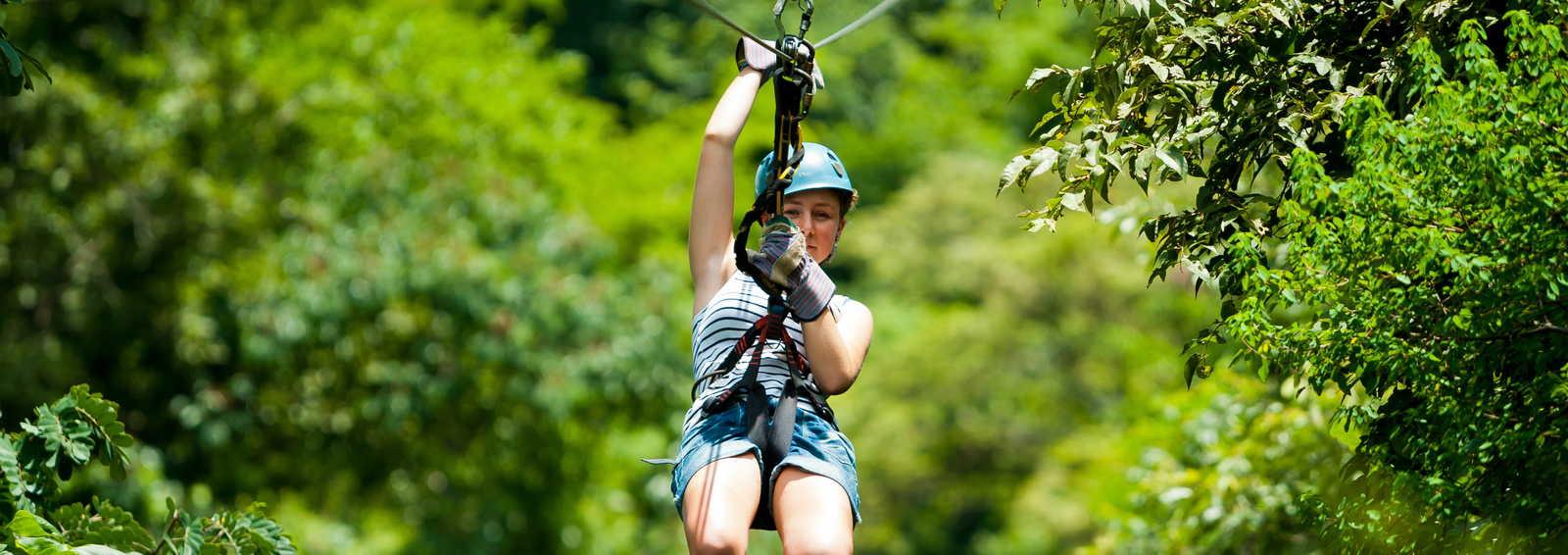 Zip-lining in Costa Rica