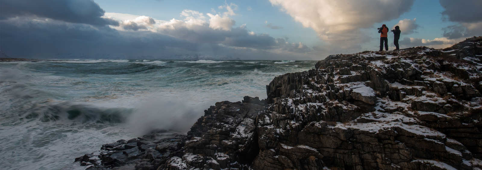 Photographing the wild seas from Andoya's wild coastline