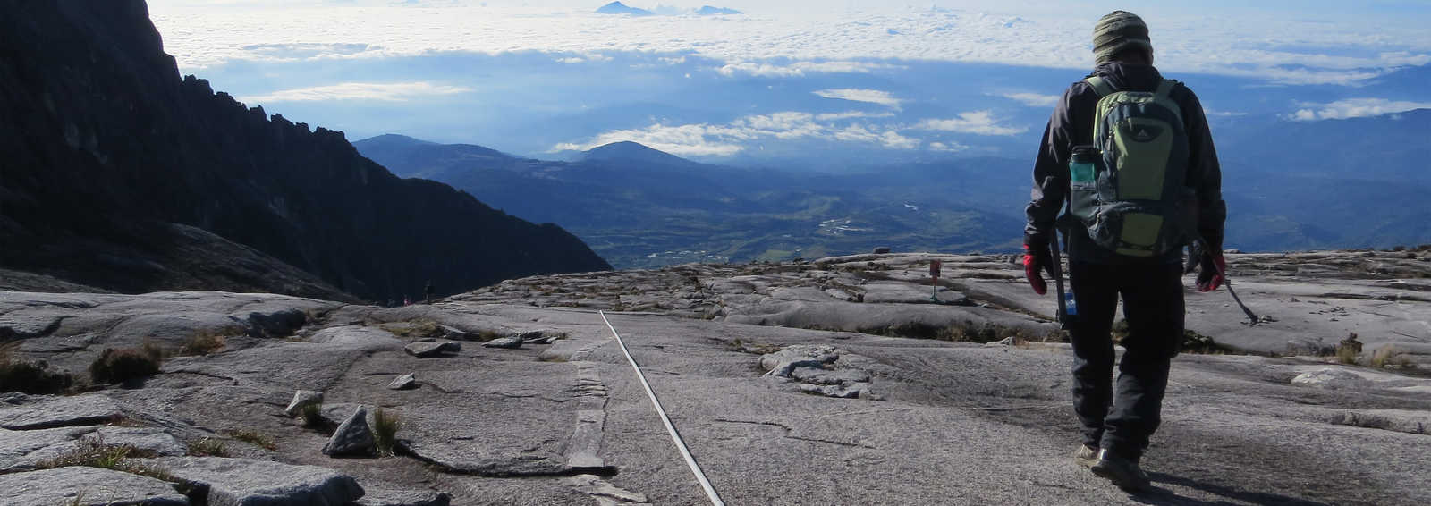 Taking in the view on Mt Kinabalu
