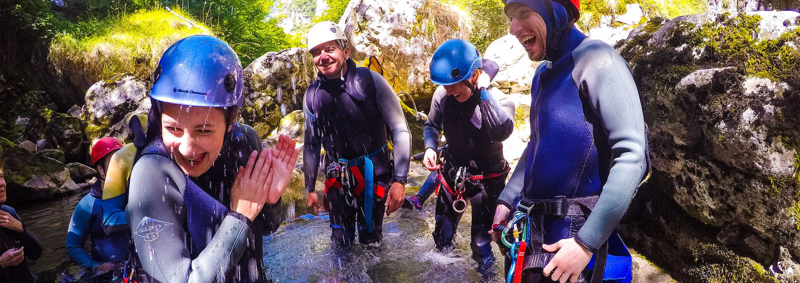 Group canyoning