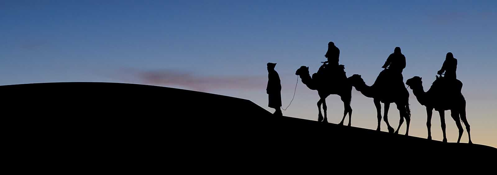 Morocco Camel Ride at Sunset