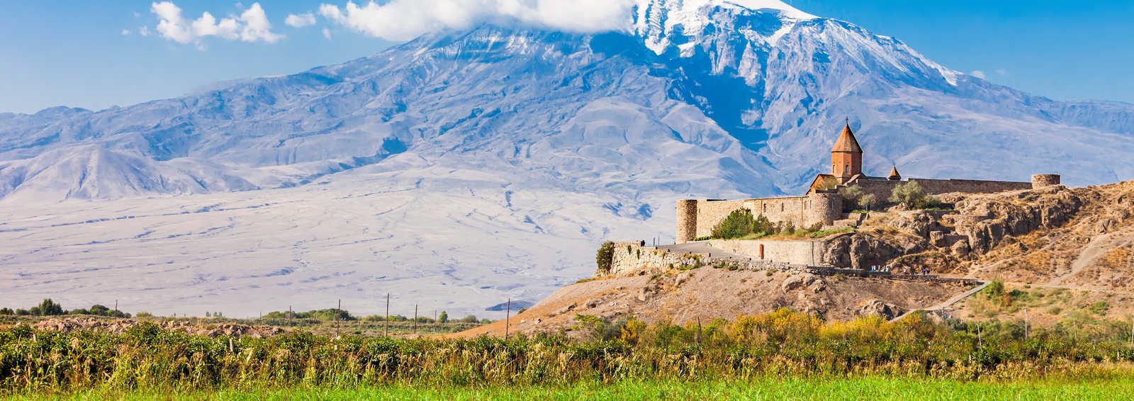 Khor Virap with Mount Ararat in background, Armenia