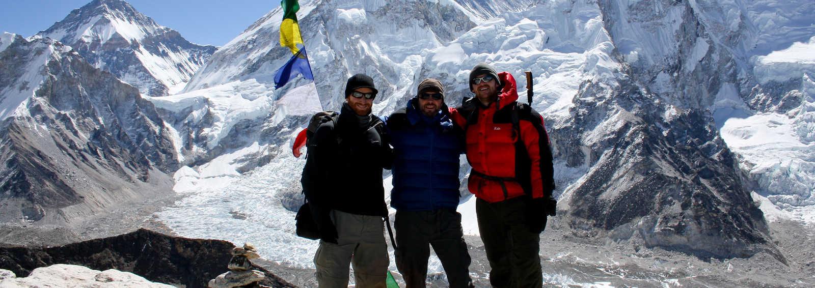 Group summit of Kala Pattar (5545m). Mt Everest in the background, Everest Basecamp Trek