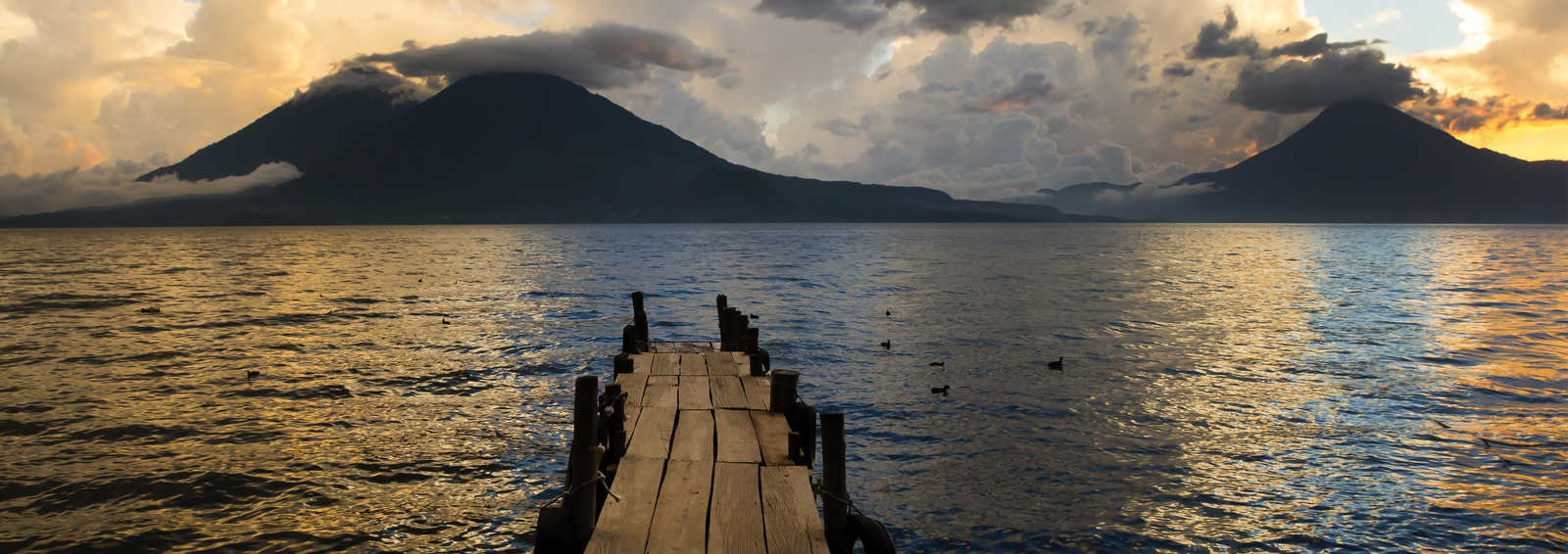 Sunset on Lake Atitlan, Guatemala
