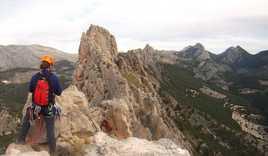 Bernia Ridge, Spain - Roped-up ridge scramble