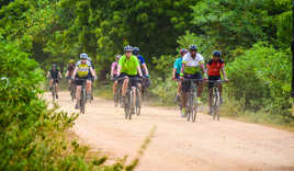 Exodus clients cycling in Sri Lanka