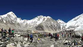 Everest Base Camp in spring
