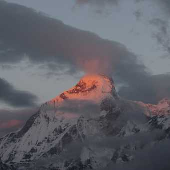 Dawn light at Nanda Devi East