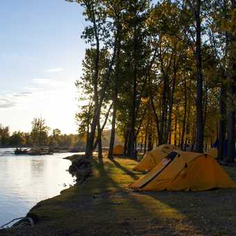 We often camped by water.