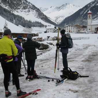 Day 3 Schmirn valley Just off the bus getting ready