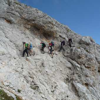 Day 5 - Start of the walk out via a short section of Via Ferrata