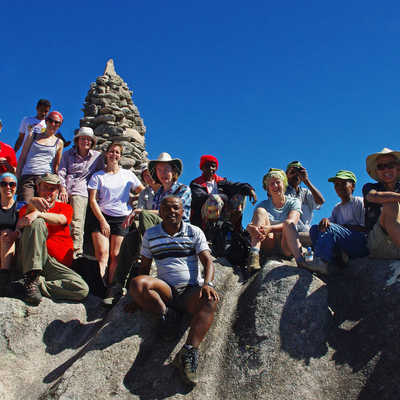 Group at top of Pic Boby, Madagascar