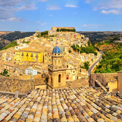 Beautiful village of Ragusa, Sicily, italy