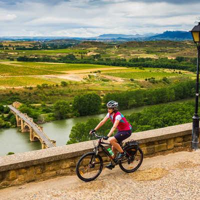 Cycling in Haro, La Rioja, Spain