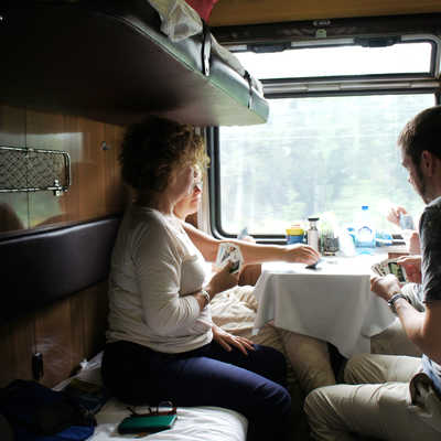 Card games on the Trans-Siberian Railway