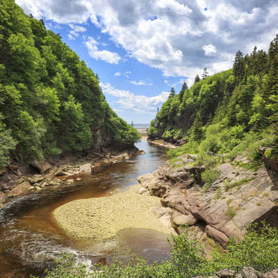 Point Wolfe at Fundy National Park, New Brunswick, Canada