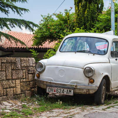 Old car in Ohrid