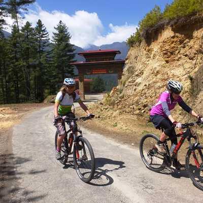 Cycling from Haa to Thimphu, Bhutan