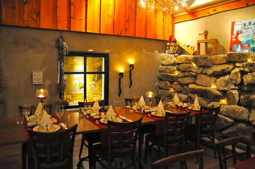 The restaurant at the Friluftssenter