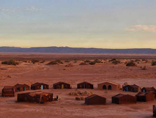 Sleeping under the desert sky