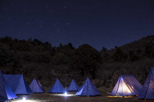 Tents on TBC